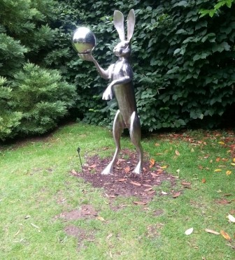 Burghley House Sculpture Garden Hare holding the moon