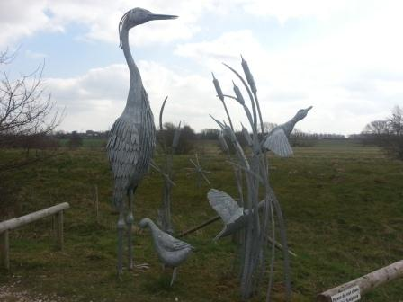 Metal-Heron-Sculpture