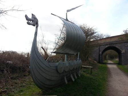 Metal-Viking-Ship