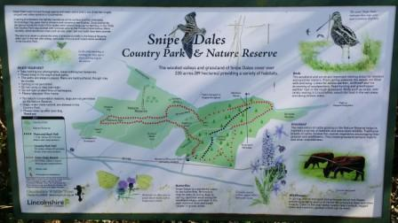 Snipe Dales Map showing walks